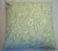 SAGE GREEN HEDGEHOG FOX RABBIT WOODLANDS WILDLIFE LINEN CUSHION COVER £6.99 EACH